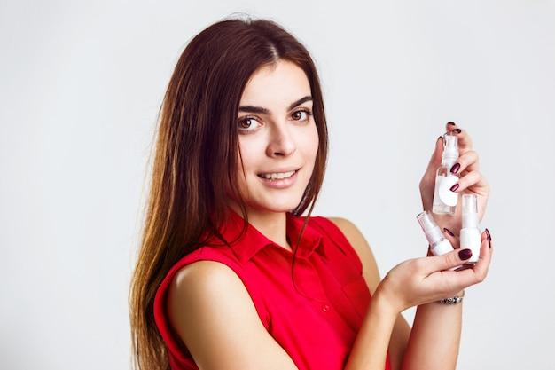 Bottles of parfumes Premium Photo