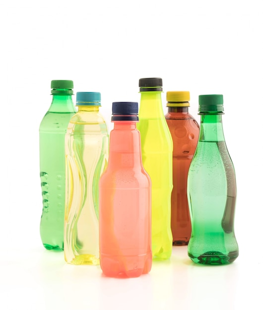 Bottles with soft drink Free Photo