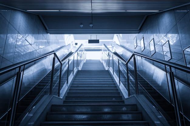Bottom view of modern stairways Free Photo