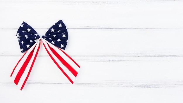 Bow with american flag illustration Free Photo