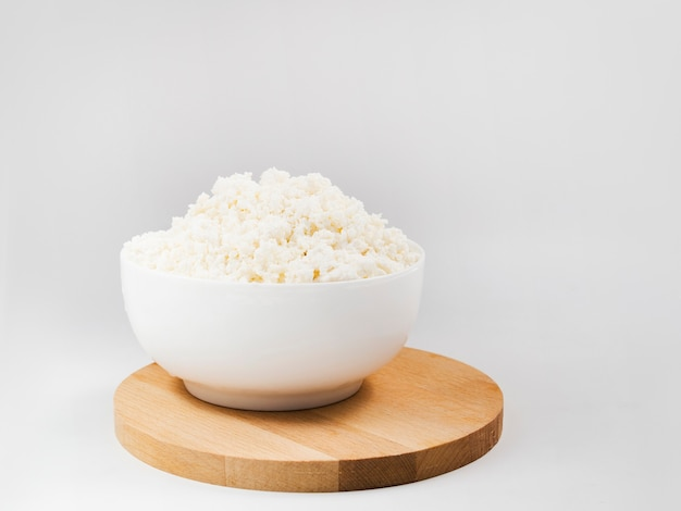 Bowl full of cottage cheese Free Photo