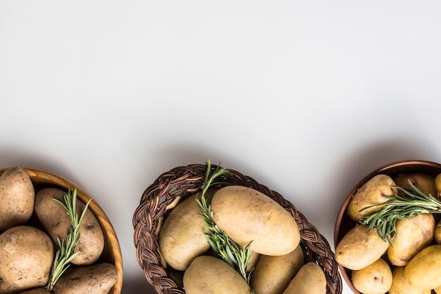 Чаша с картофелем выровнена Бесплатные Фотографии