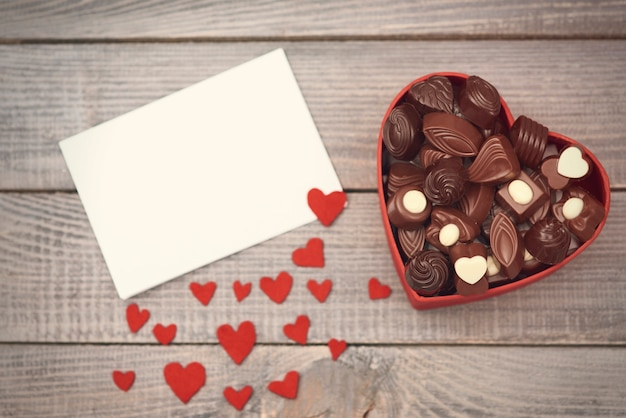 발렌타인 초콜릿 상자 무료 사진