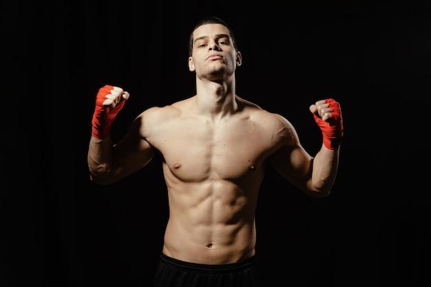 Boxer power pose Free Photo