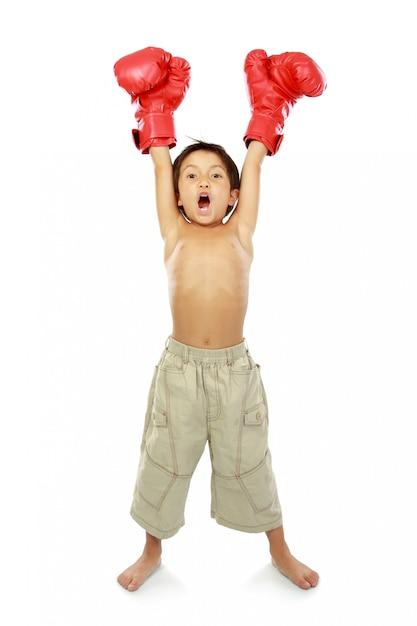 Boxing kid Premium Photo