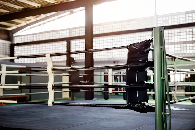 Boxing ring arena stadium fighting competitive sport concept Premium Photo