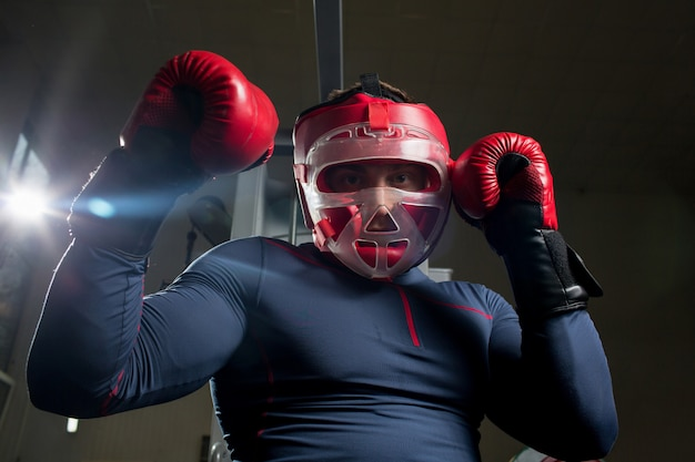 Boxing workout Free Photo