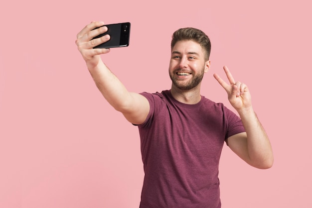 Boy taking a selfie Free Photo