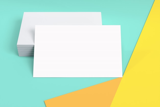 brand identity blank business card or credit card mockup