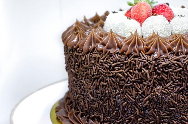 Brazilian gourmet cake with Premium Photo