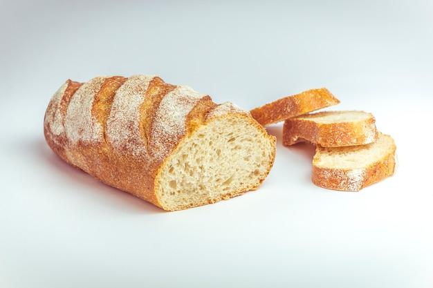Bread chopped into pieces Premium Photo