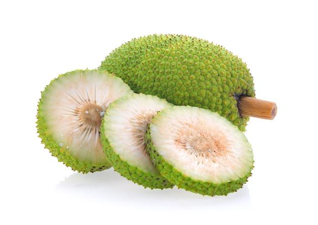 白い背景に隔離されたbreadfruit Premium写真