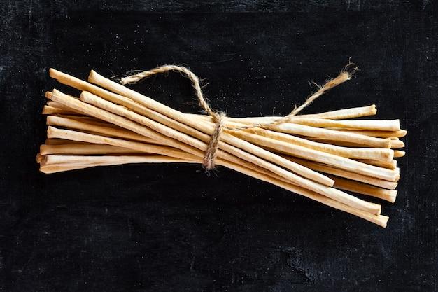 Breadsticks grissini torinesi Premium Photo
