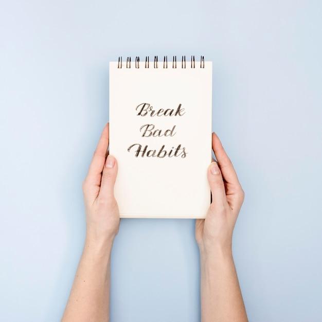 Break bad habits concept Premium Photo