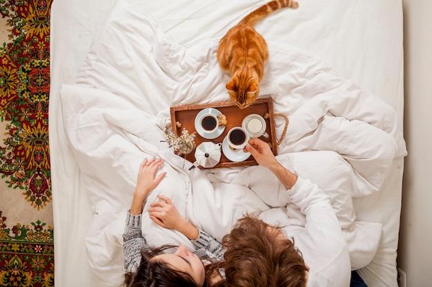 Breakfast in bed Free Photo