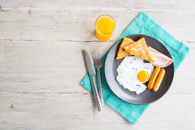 breakfast cooked egg vintage top Free Photo