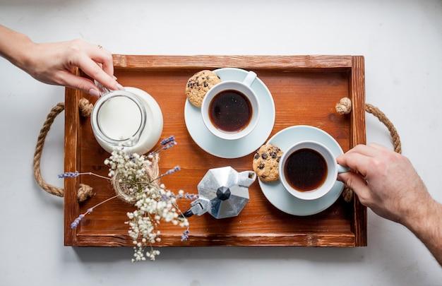Breakfast tray Free Photo