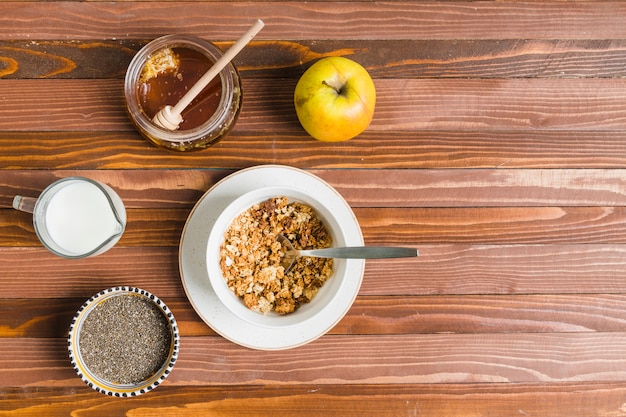 Breakfast with cereals Free Photo