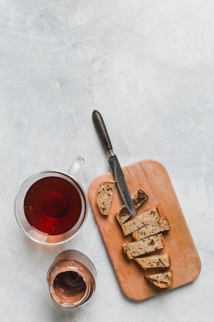 Breakfast with tea Free Photo