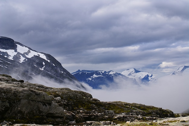 아름다운 Atlanterhavsveien의 숨막히는 풍경-노르웨이 대서양 도로 무료 사진