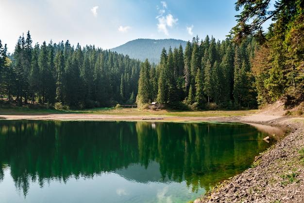 Vista mozzafiato sul lago alto nelle montagne dei carpazi Foto Gratuite
