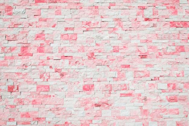 Brick background in pink and white Premium Photo