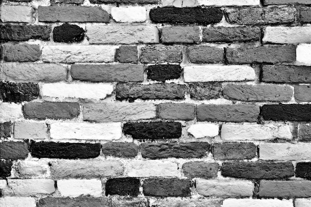 Brick Texture Black And White Free Photo