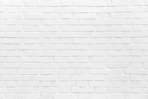 Brick wall painted in white Free Photo