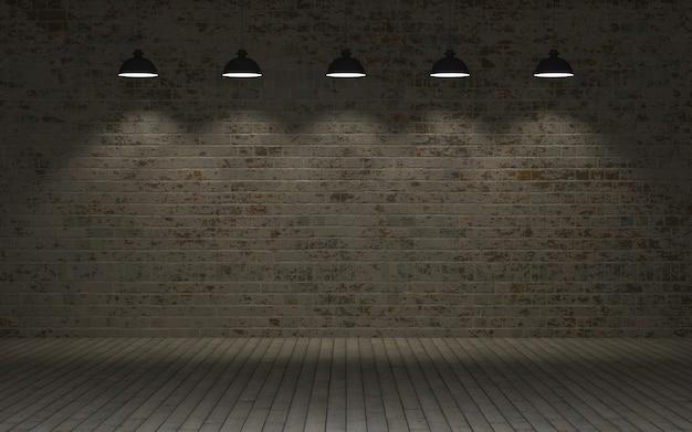 3d визуализации незащищенный кирпичной стены Бесплатные Фотографии