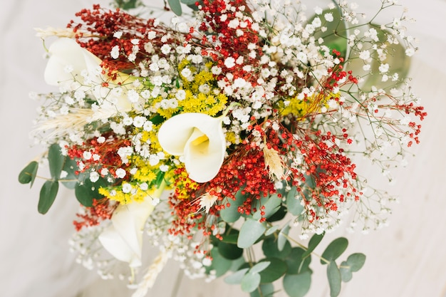 Bridal bouquet of flowers Free Photo