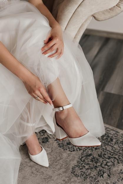 ブライダルウェディングシューズ、ドレス、リング Premium写真
