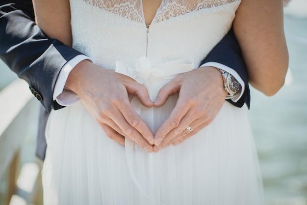 Bride and groom Premium Photo