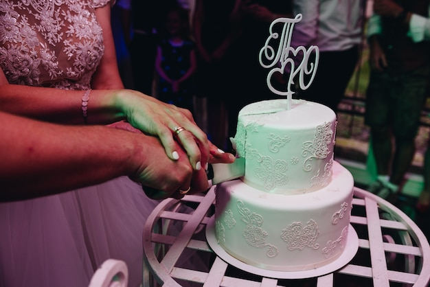 simple cake decorating ideas with fondant.htm bride and groom cutting elegant simple wedding cake with an ornate  cutting elegant simple wedding cake