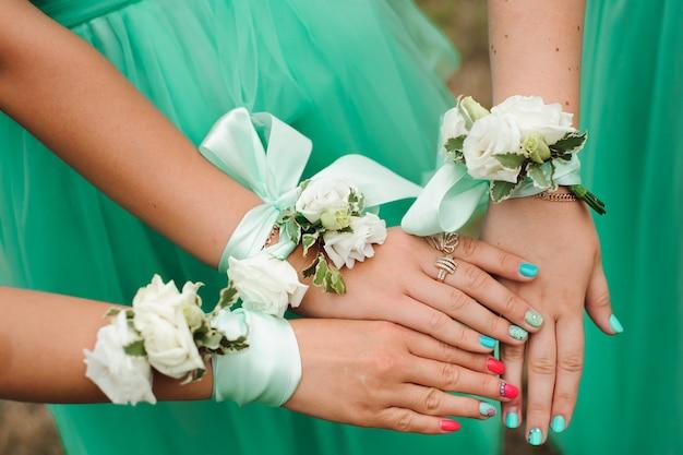 Bride wedding details Premium Photo