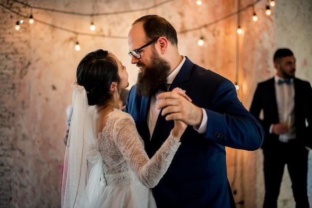 Bridge and groom wedding day Premium Photo