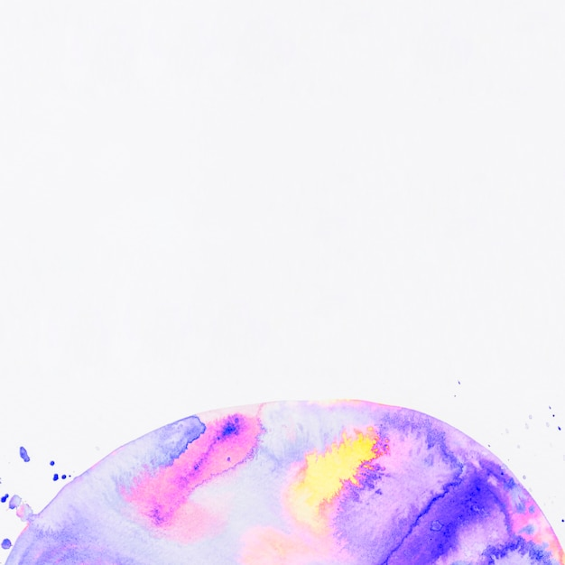 Bright abstract acrylic semicircle on white backdrop Free Photo