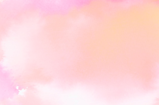 Bright abstract coral watercolor texture on white backdrop Free Photo