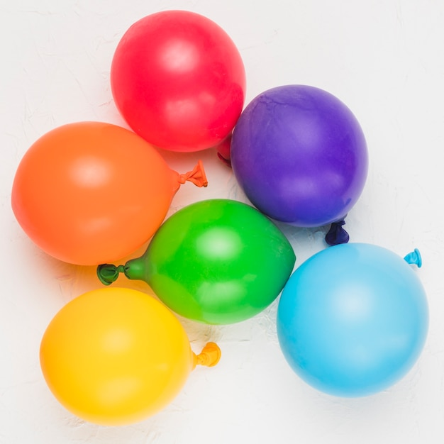 Bright balloons as symbol of lgbt community Free Photo