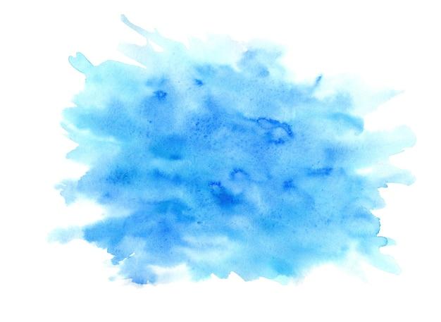 Яркие синие и бирюзовые выразительные влажные акварельные текстуры капли на белом фоне Premium Фотографии