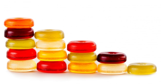 Bright candies isolated on a white Free Photo