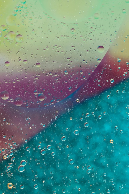 Bright colored abstract background with bubbles Free Photo