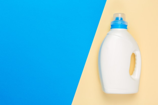 Bright colored shot of a household chemicals plastic container. Premium Photo