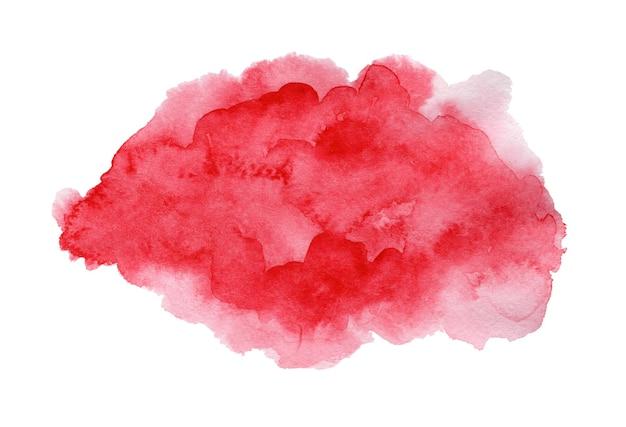 Яркие выразительные темно-красные и розовые мокрые акварельные текстуры капли на белом Premium Фотографии