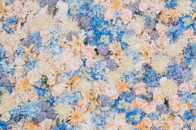 Bright flowers background Free Photo