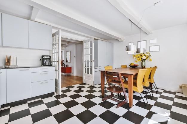 Premium Photo Bright Kitchen With A Luxury Kitchen Island In The Elegant House