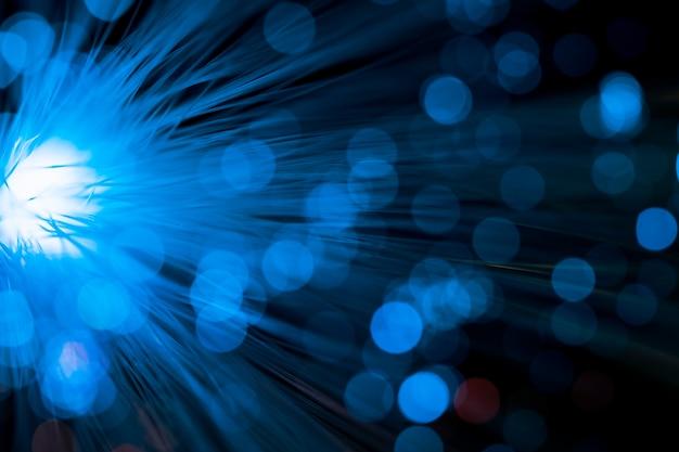 Luce intensa con fibra ottica blu Foto Gratuite