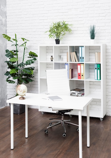 Bright modern minimalist desk Free Photo