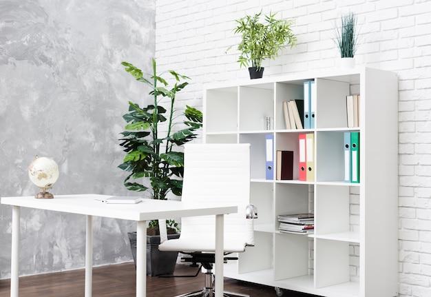 Bright modern minimalist desk Premium Photo