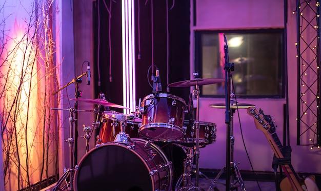 Bright recording studio. Free Photo