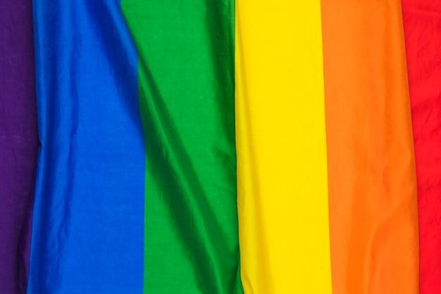 Bright rippled rainbow cloth Free Photo